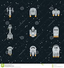 sci fi spaceships stock vector image 53830063