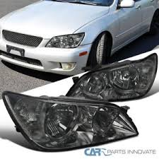 lexus is300 headlight assembly 01 05 lexus is300 chrome headlights replacement ls smoke