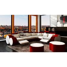 canapé d angle 9 places grand canapé d angle relax en cuir 6 places roll