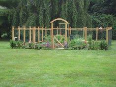 deer proof vegetable garden small animals fence and vegetables