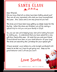 santa claus letters letters from santa claus colorful personalized letters from
