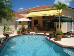 4 fantastic kinds of pool deck awnings carroll awning