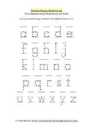 free kindergarten handwriting worksheets worksheets