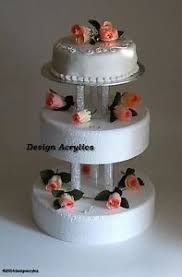 3 tier wedding cake stand 2 x fillable acrylic separators stands for 3 tier wedding cake