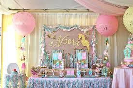 Under The Sea Decoration Ideas Kara U0027s Party Ideas Mermaid Under The Sea 1st Birthday Party Via