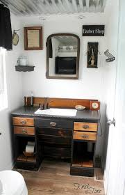 bathroom reveal knick time see how turned old laundry room into unique vintage style bathroom