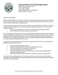 parent attendance letter cats counseling