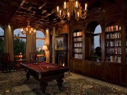 elegant rustic decor billiard room library billiard room