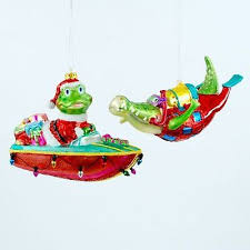 frog christmas ornanments collection on ebay