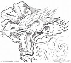 outline japanese dragon tattoo design for men photo 2 2017 real