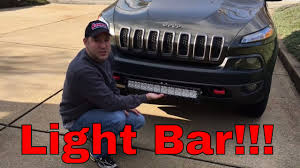 Auxbeam 22 Led Light Bar Install 2015 Jeep Cherokee Trailhawk