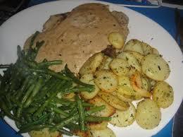 cuisine haricot vert faux filet sauce poivre et haricot vert pomme de terre persillade