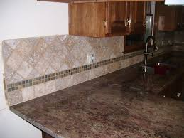 4x4 noce w slate inlay backsplashes pinterest backsplash