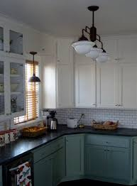 Schoolhouse Chandelier Warehouse Shades Schoolhouse Lights Feature In Kitchen Remodel