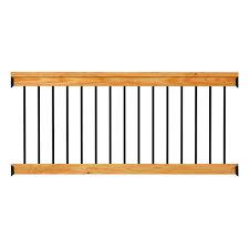 deckorail western red cedar 6 ft railing kit with black aluminum