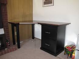 Diy Desk With File Cabinets Corner Desk File Cabinet Corner Cabinets