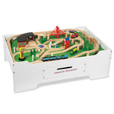 train and track table the personalized train and activity table hammacher schlemmer