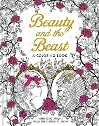 silver dolphin books u2013 beauty beast coloring book