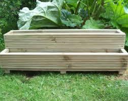 large decking wooden garden planter 800 1000 or 1200mm wood