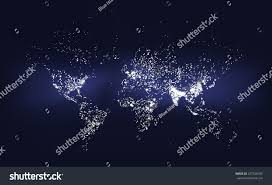Population Density World Map by World Population Density Map Abstract Illustration Stock Vector