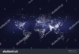 World Population Density Map World Population Density Map Abstract Illustration Stock Vector