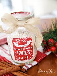 happy holidays cinnamon shake u0026 pour pancakes in a jar gift idea