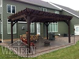 Solid Roof Pergola Kits by Entertainment Size Pergola Kit Pictures Gallery Western Timber
