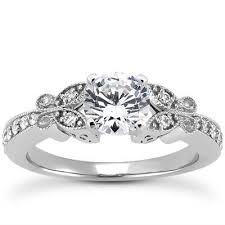 butterfly engagement rings 1 carat 6 5mm forever brilliant moissanite butterfly