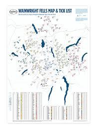 Lake District England Map wainwright fells map map of the wainwright fells guideus