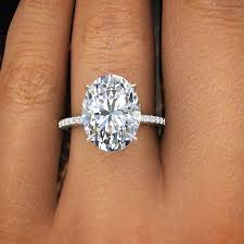 oval wedding rings 2 00 ct oval cut pave diamond engagement ring