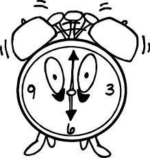 alarm clock coloring page wecoloringpage