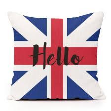 British Flag With Red Hello With British Flag Sweet Little Sunday X Designer Linen