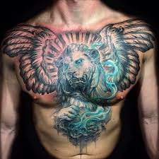 19 best lion king chest tattoos images on pinterest angel wings