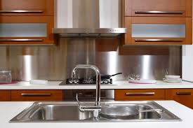 Metal Kitchen Stove Backsplash Kitchen Stove Backsplash Gallery - Metal kitchen backsplash