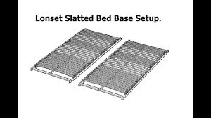 Slatted Bed Base Queen Ikea Lonset Slatted Bed Base Assembly Youtube