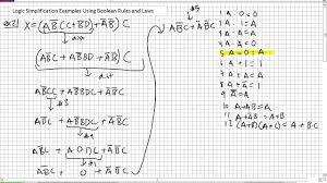symbols glamorous boolean algebra expression examples logic