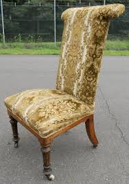 Victorian Upholstered Chair Victorian Upholstered Prayer Chair 239071 Sellingantiques Co Uk