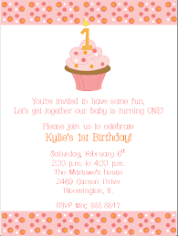 1st birthday cupcake invitations