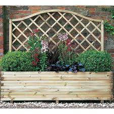 forest garden venice planter curved top trellice planter fsc timber