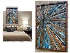 abstract lanscape painting wood wall by shari butalla