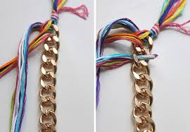 diy chains bracelet images Diy double wrapped braided chain bracelet jpg