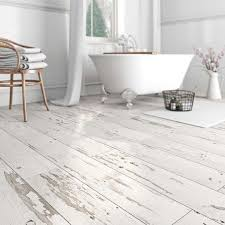 bathroom floor ideas vinyl waterproof vinyl flooring with a whitewashed shabby chic look