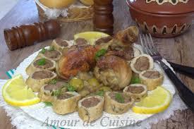 cuisine marocaine poulet farci tajine de chignon roulé de poulet a la viande amour de cuisine