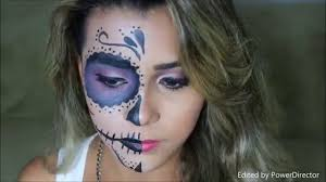 day of the dead makeup for halloween half face halloween makeup ideas everyone love to try a diy projects