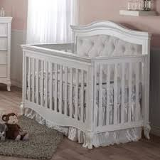 Pali Convertible Crib Pali Cristallo Forever Crib In Vintage White With Leather Panel
