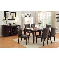 fancy alight quartz marble dining table black wooden high gloss