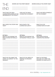 the ending writing worksheet wednesday