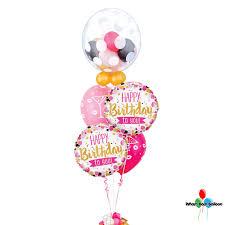 balloon bouquest happy birthday pink gum balloon bouquet wham bam balloon