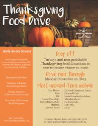 thanksgiving food drive youth
