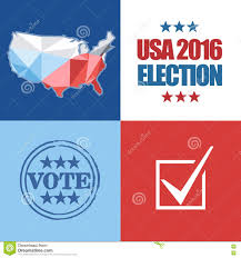 Country Map Usa by Usa 2016 Election Card With Country Map Vote Stamp And Checkbox